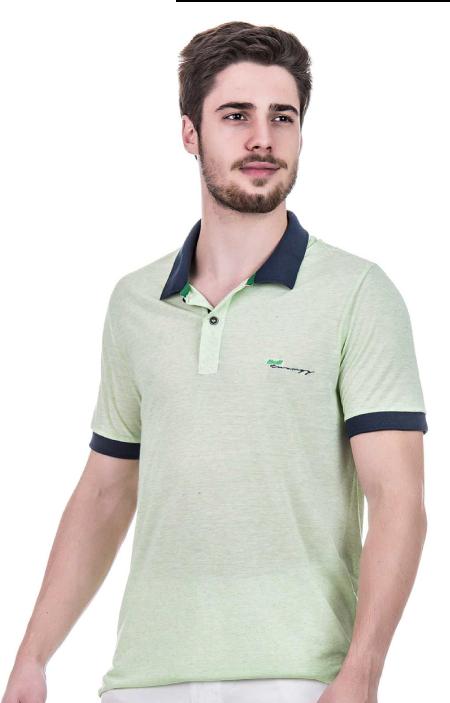 Camisa Polo Masculina Hifen Verde em Tecido Reciclado