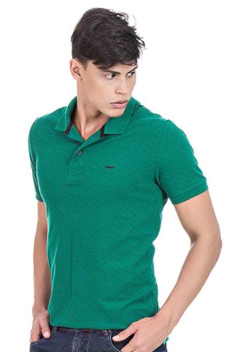Camisa Polo Masculina Minimalista Hifen Verde