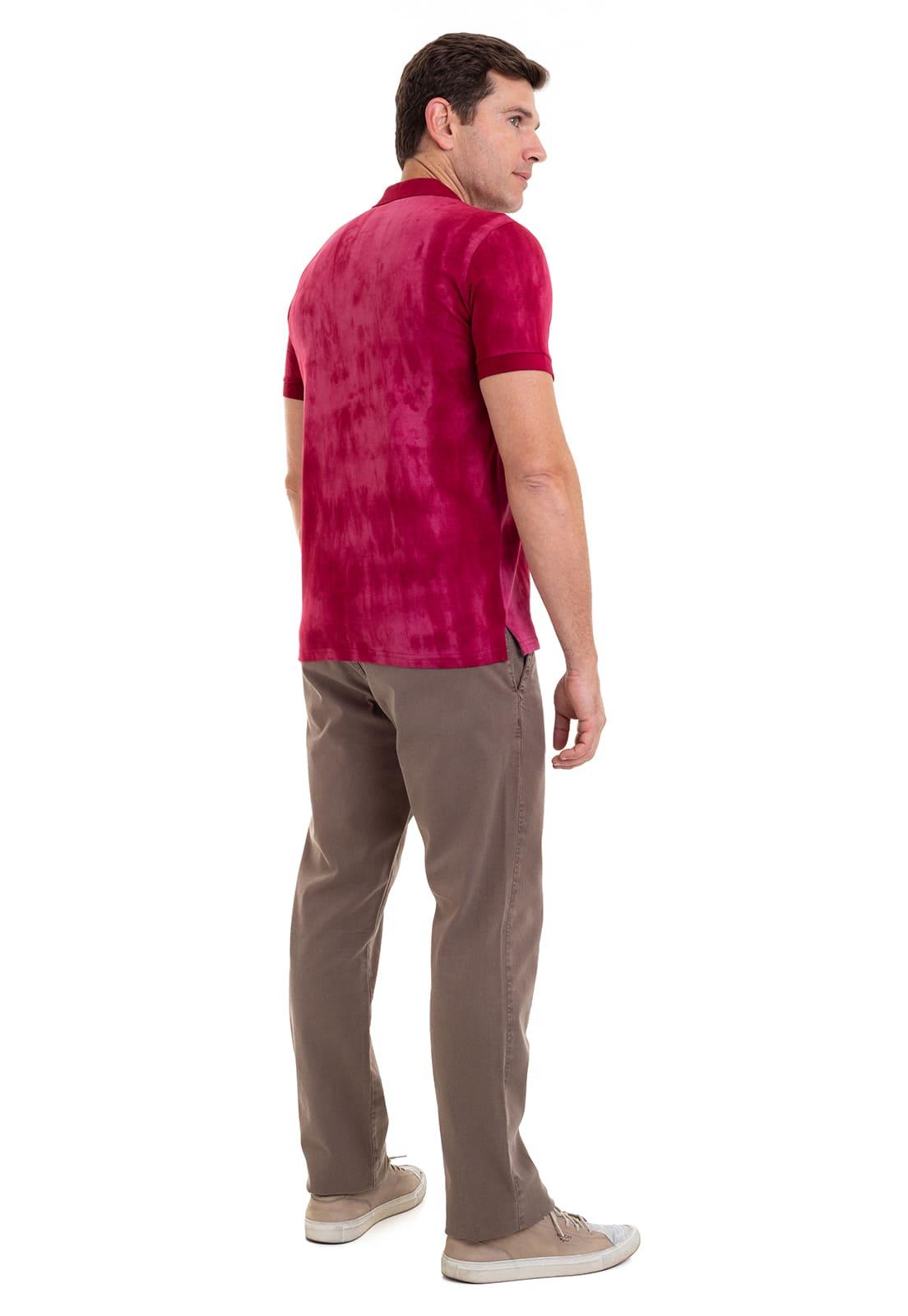 Camisa Polo Masculina Hifen Vermelha