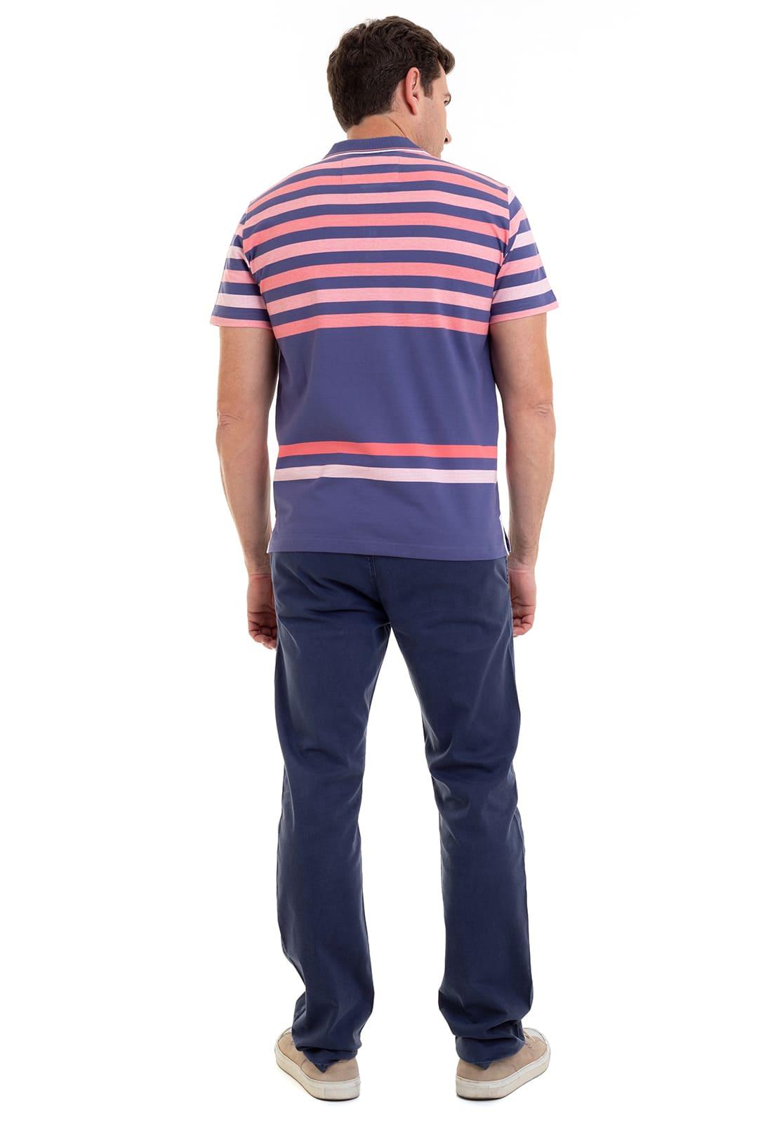 Camisa Polo Masculina Listrada Hifen Violeta