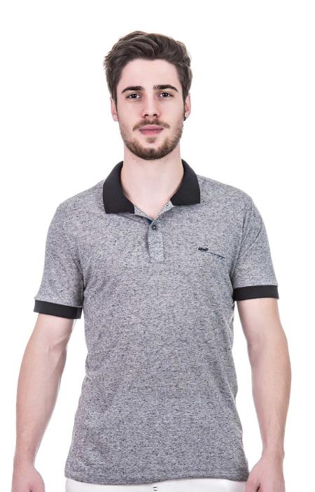 Camisa Polo Masculina tecido sustentável - Eco Nature Cinza