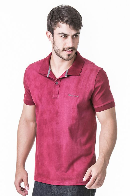Camisa Polo Masculina Hifen com Lavagem Tie Dye