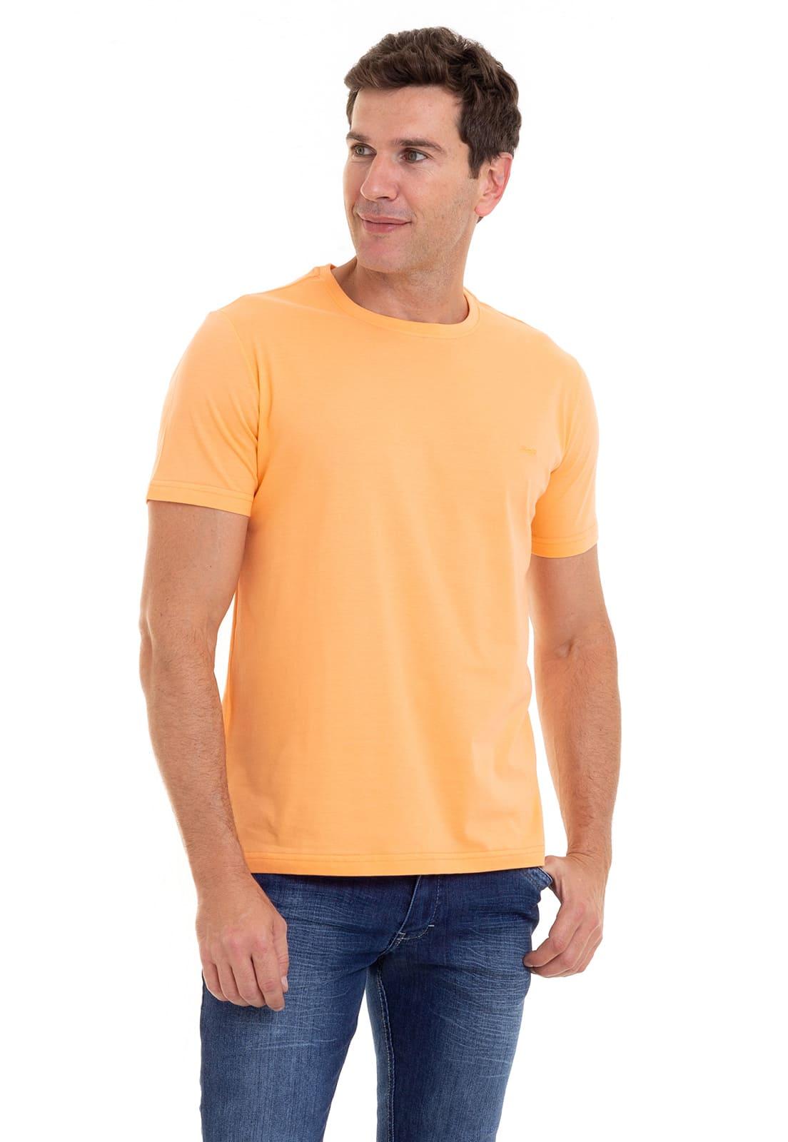 Camiseta 100% Algodão Super Premium, Na Cor Laranja
