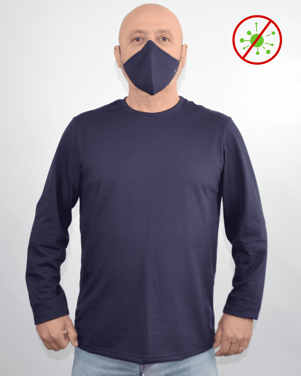Camiseta Antiviral Hifen na Cor Marinho Masculina