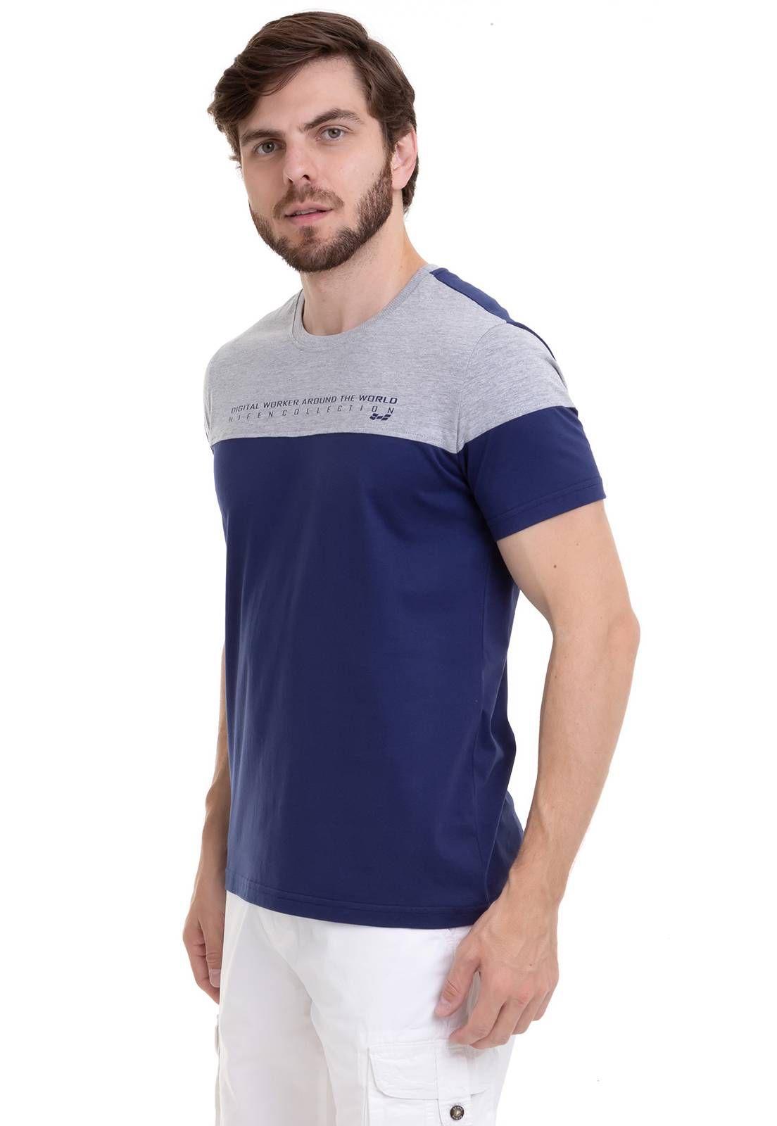 Camiseta Bicolor Com Estampa Silk