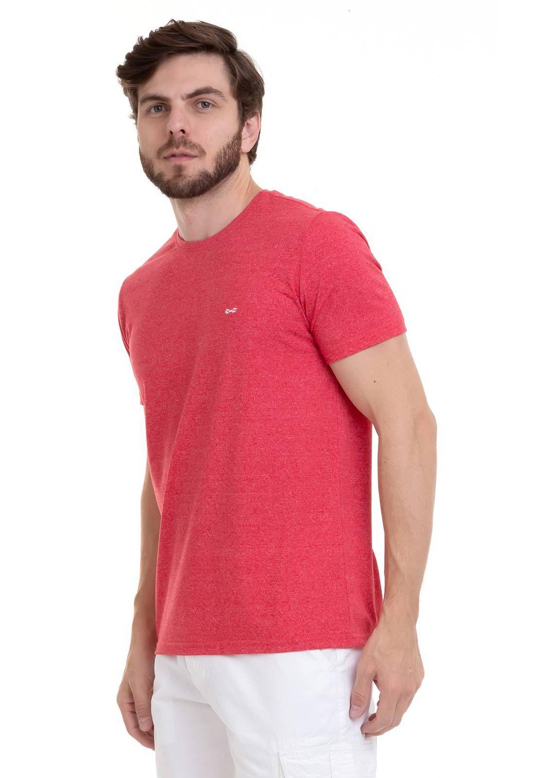Camiseta Com Efeito Mescla Vermelha