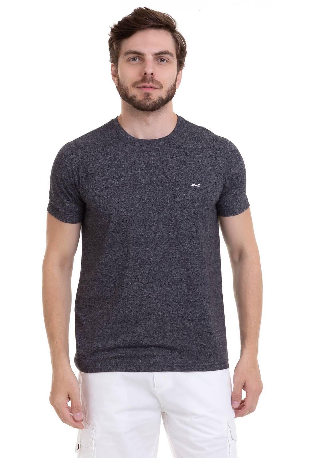 Camiseta Com Efeito Mescla Chumbo