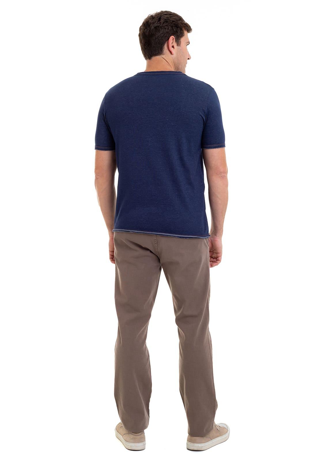 Camiseta em Malha Jeans Hifen