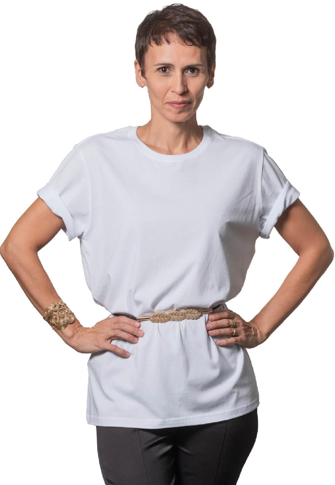 Camiseta Feminina 100% Algodão Super Premium, Na Cor Branca
