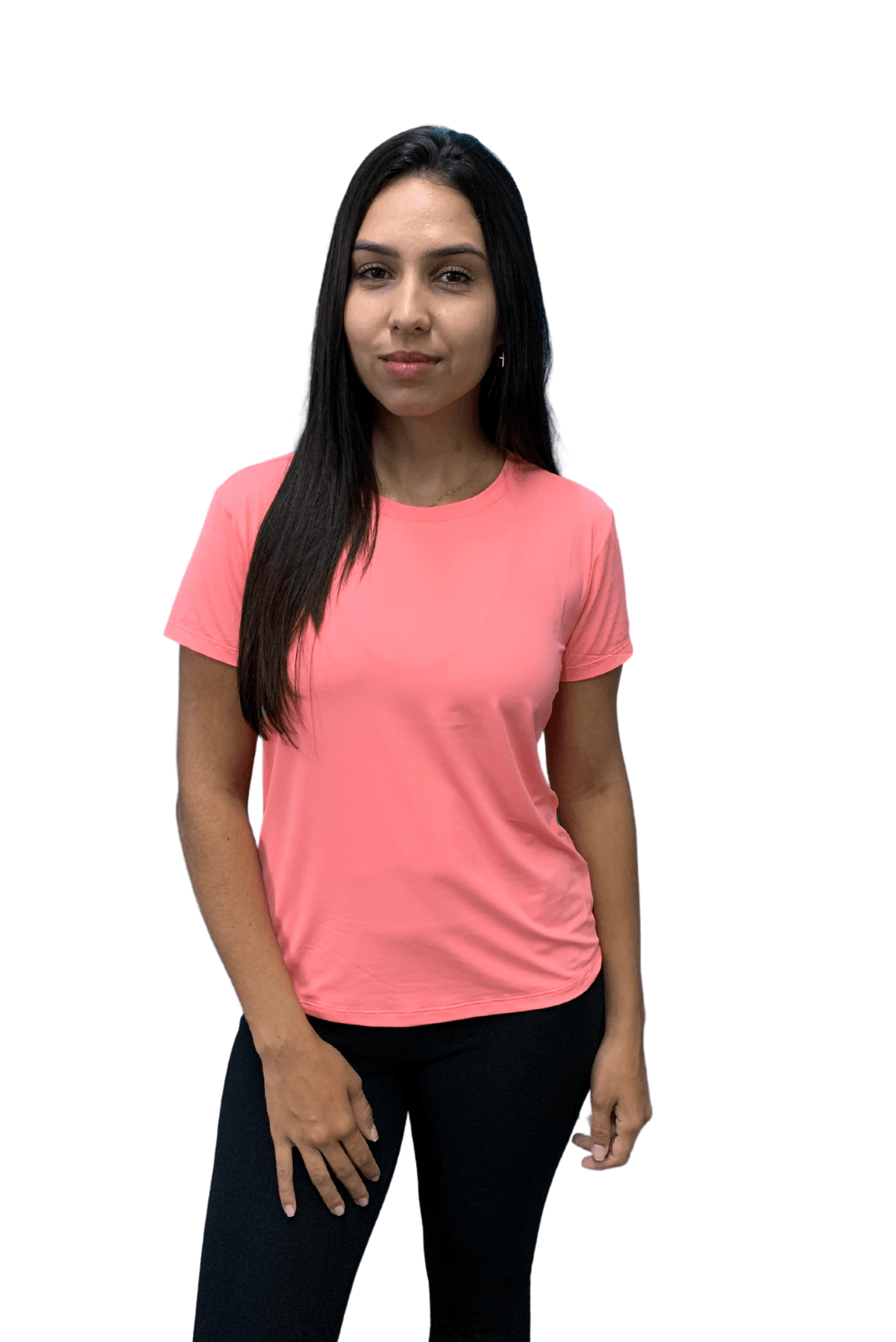 Camiseta Feminina Hifen  UV 50+ Coral