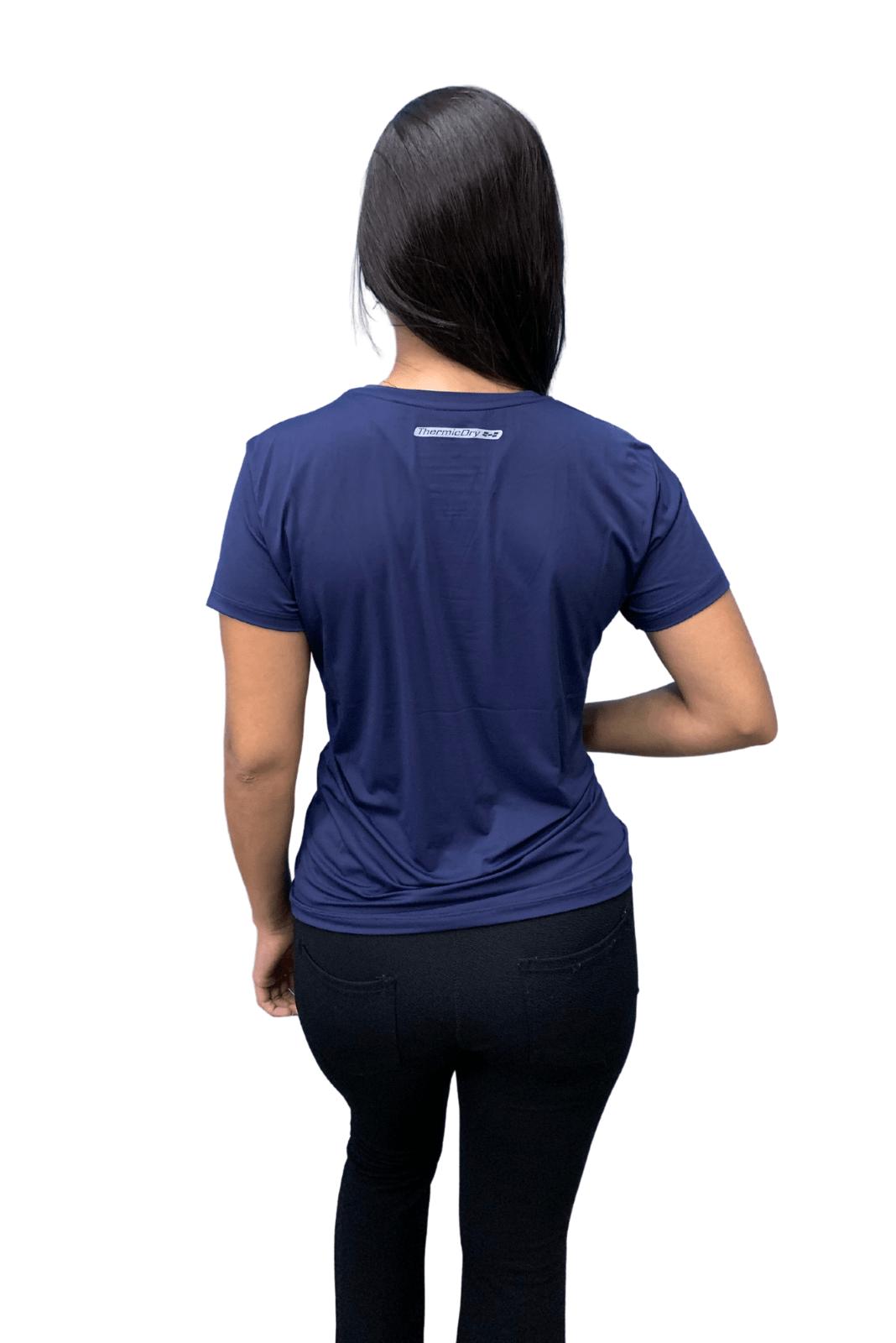 Camiseta Feminina Hifen  UV 50+ Marinho