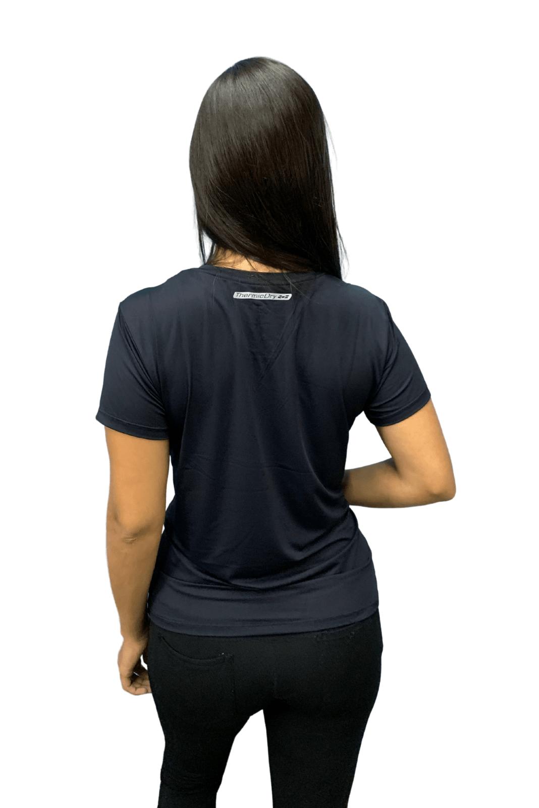 Camiseta Feminina Hifen  UV 50+ Preta