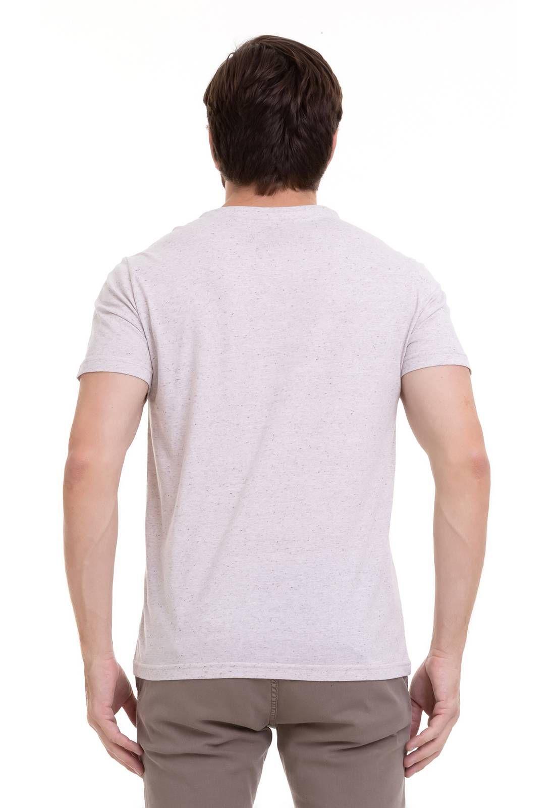 Camiseta Malha Com Efeito Linho Hifen