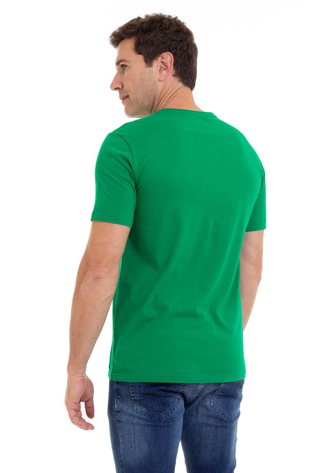 Camiseta Masculina 100% Algodão Super Premium, Na Cor Verde Claro