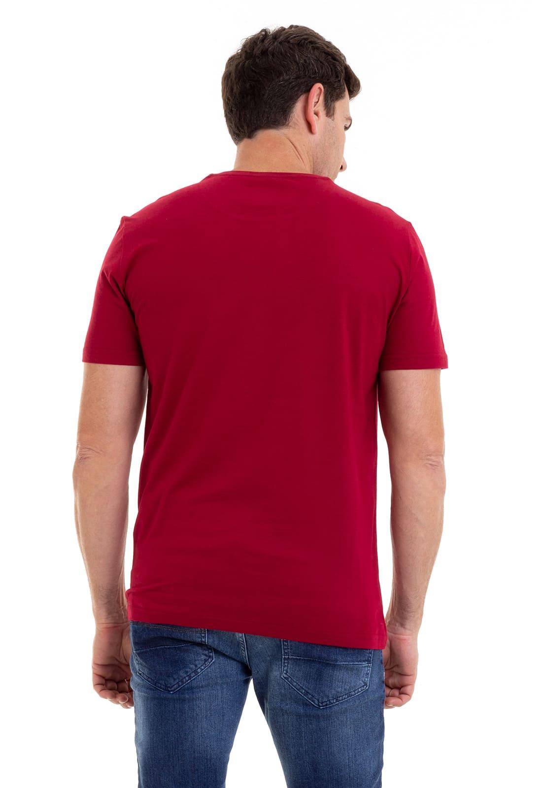 Camiseta Masculina 100% Algodão Super Premium, Na Cor Vinho