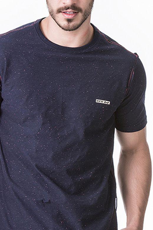Camiseta Masculina Hifen Estampada Dupla Face