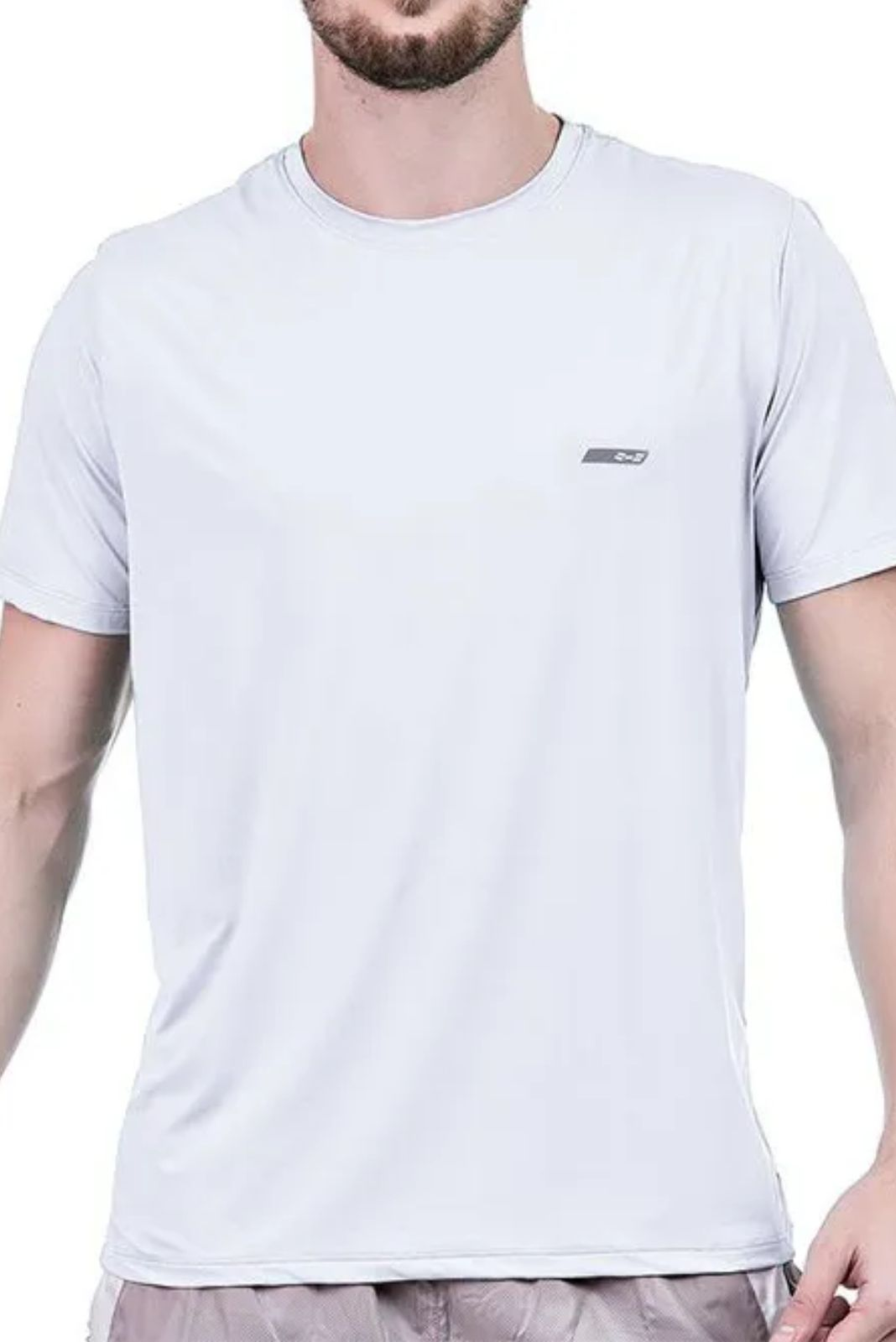 Camiseta Masculina Hifen Branca com Proteção Solar