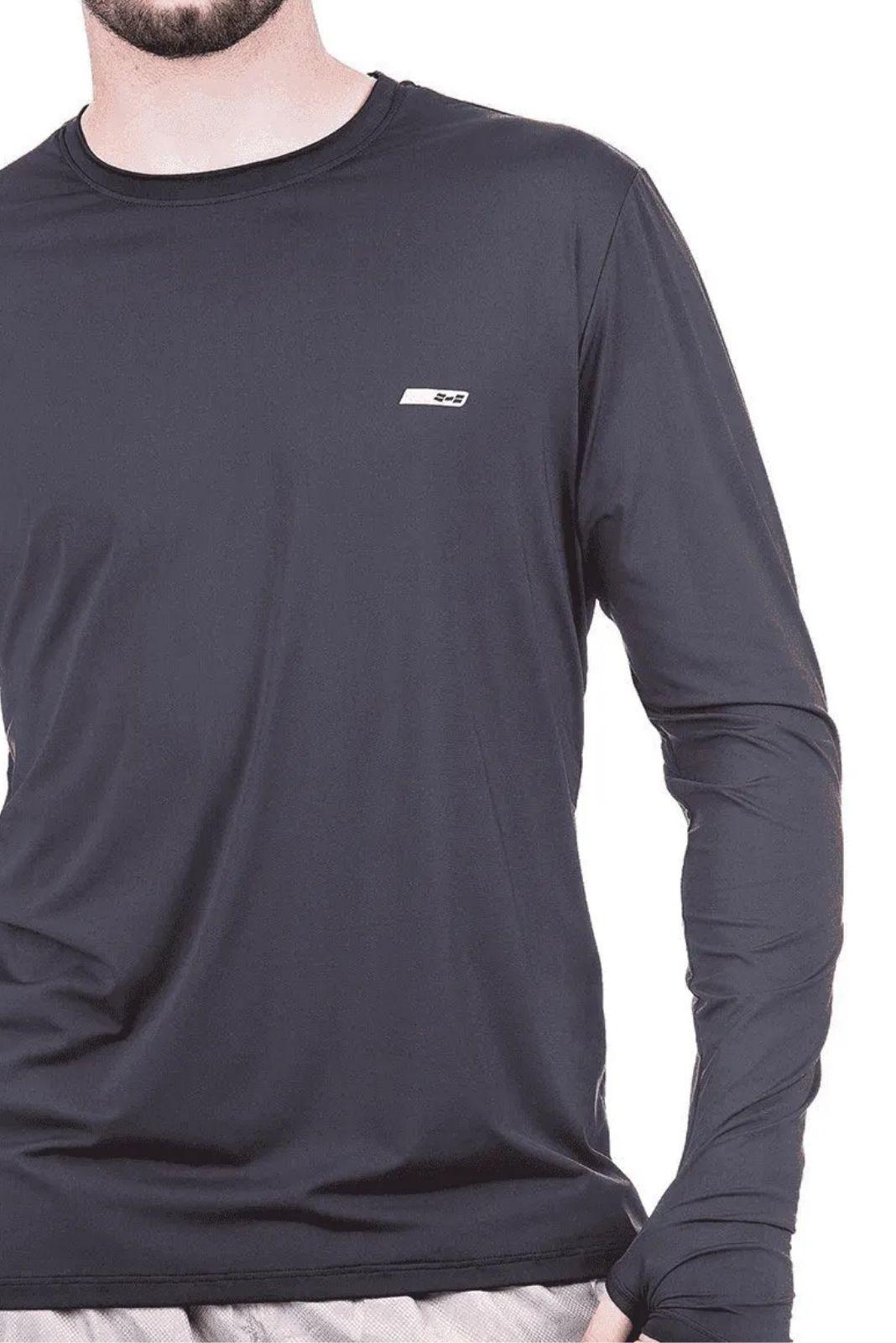 Camiseta Masculina Hifen com Proteção Solar UV 50+ - Manga Longa - Linha Dry Fit