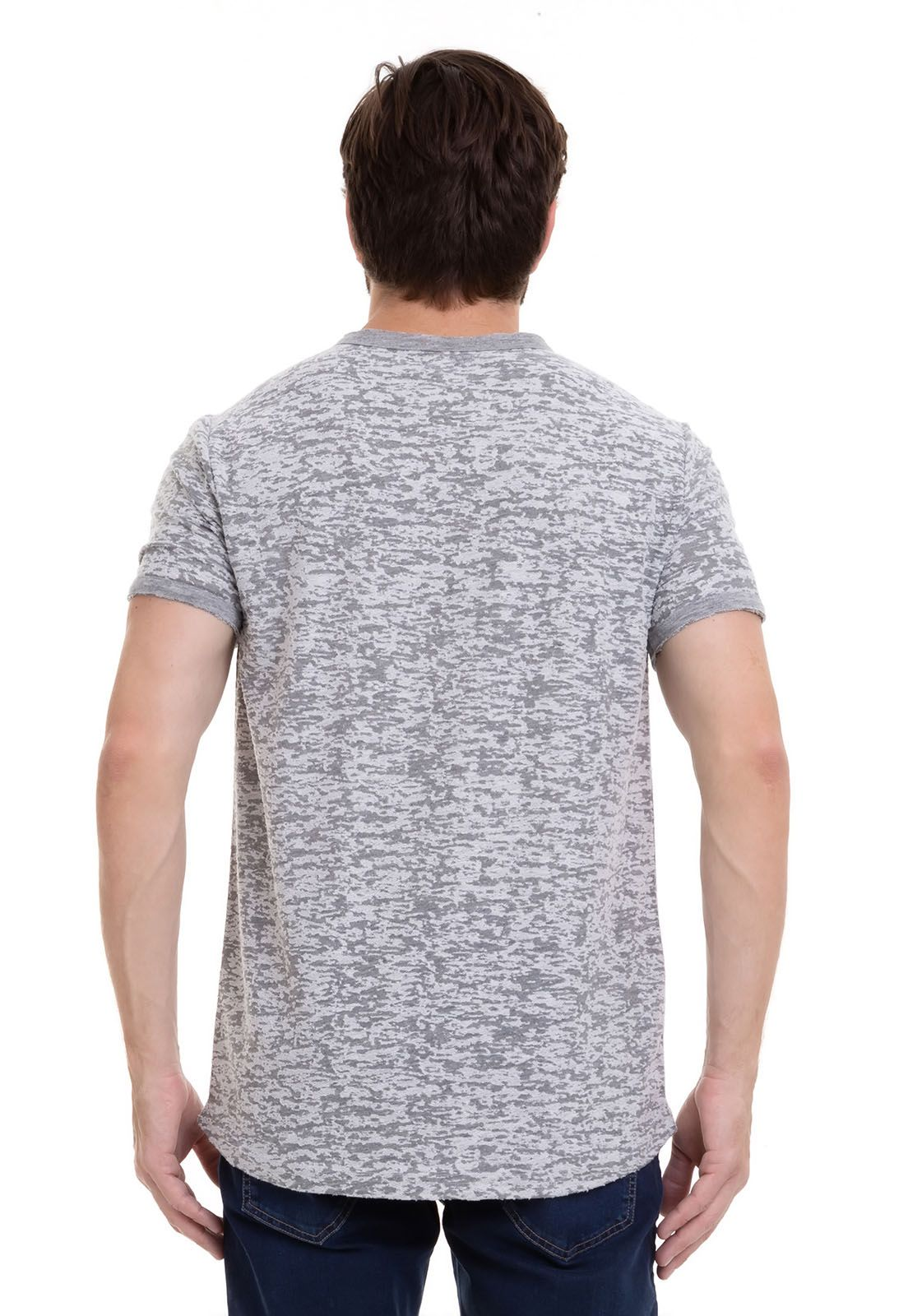 Camiseta masculina long Devorê