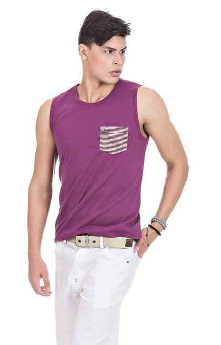 Camiseta Masculina Regata Hifen Roxa