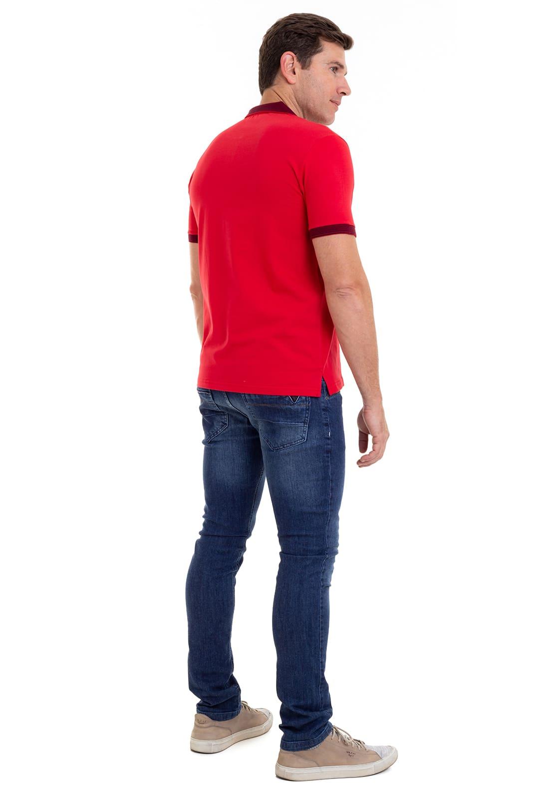 Camiseta Polo  Hifen em Malha Premium