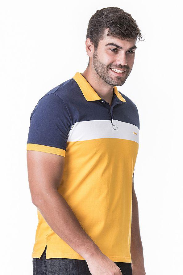 e78196a023267 Camisa Polo Masculina Hifen Listrada Fio Tinto - Hifen Camisetas ...