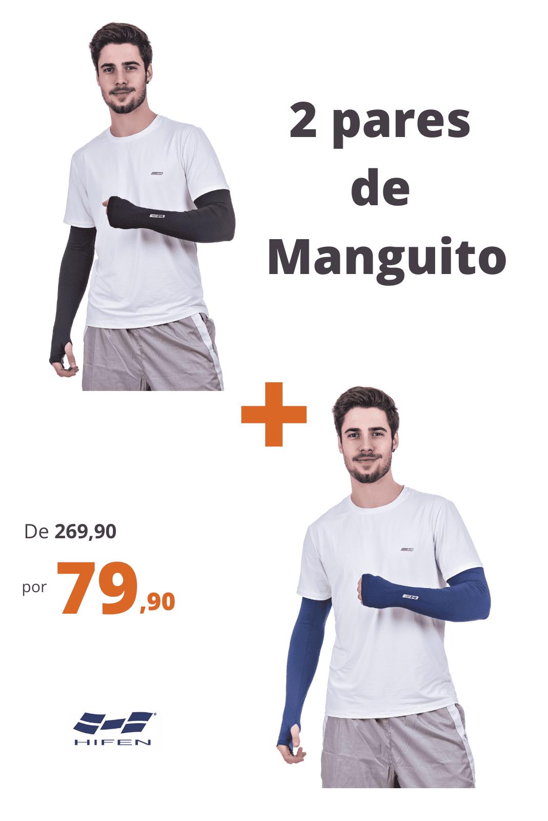 Kit 2 Manguitos Térmico Com Proteção Solar Marinho + Preto