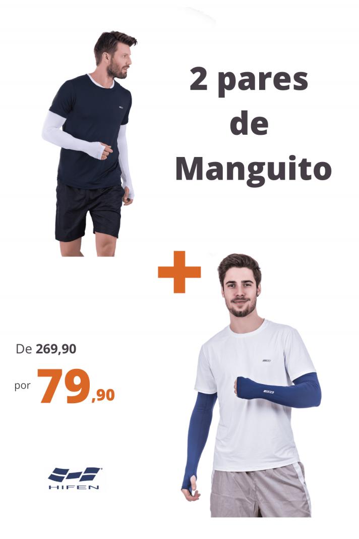 Kit 2 Manguitos Térmico Com Proteção Solar Branco + Marinho