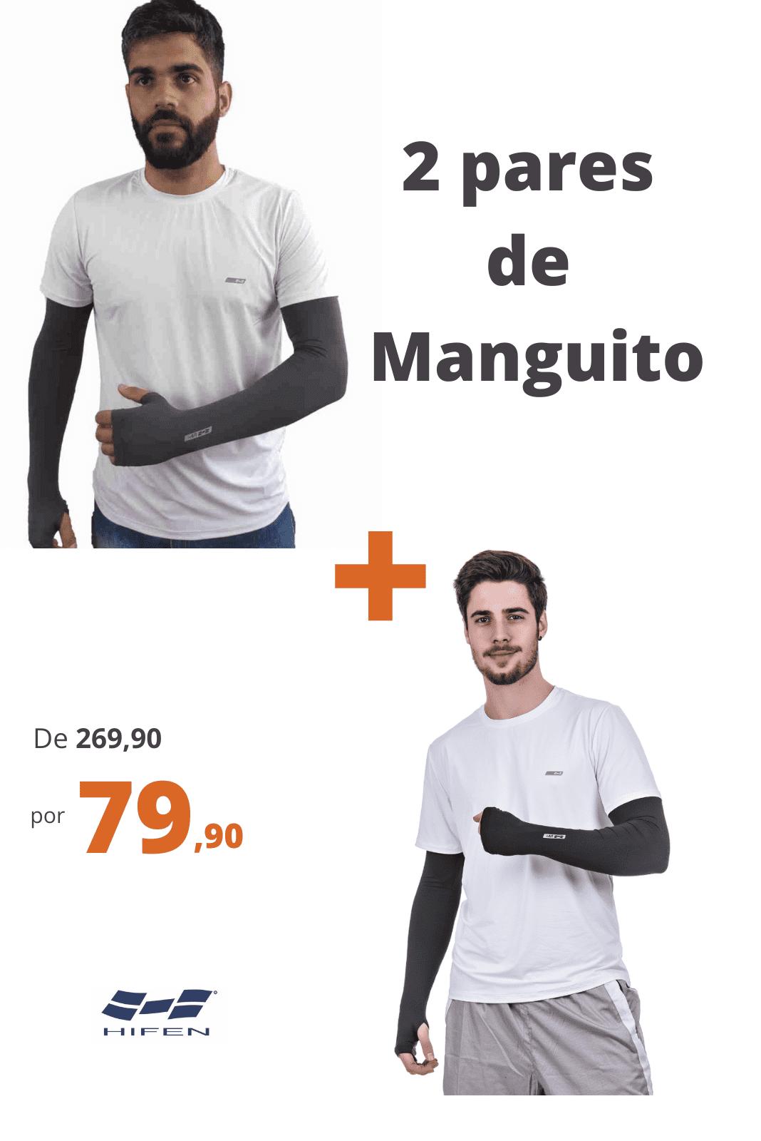 Kit 2 Manguitos Térmico Com Proteção Solar Cinza + Preto