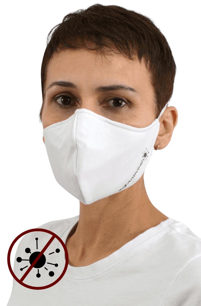 Máscara Antiviral Na Cor Branca Feminina