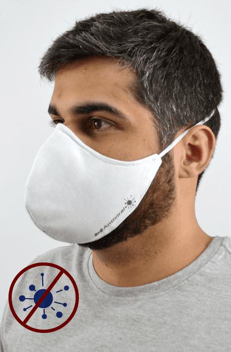 Máscara Antiviral Na Cor Branca Masculino