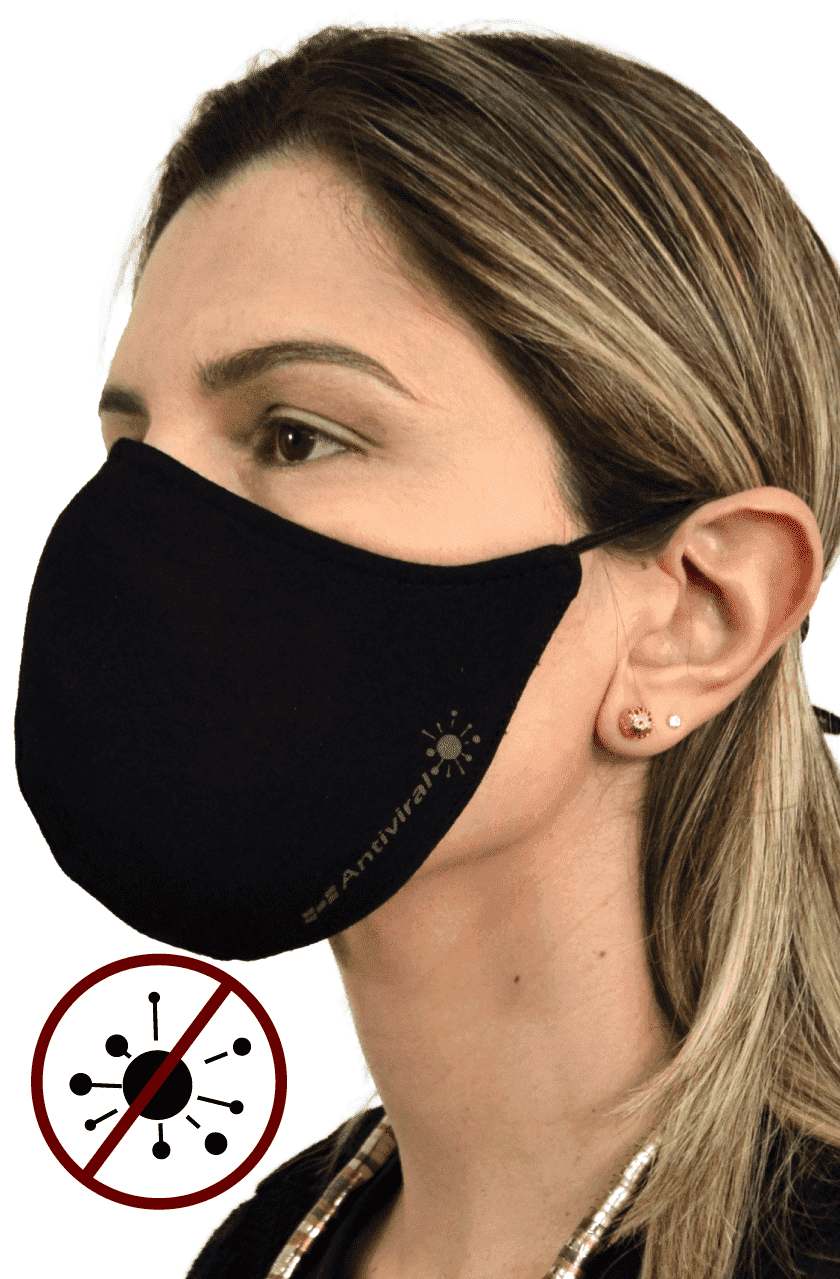 Máscara Antiviral Na Cor Marinho Feminina