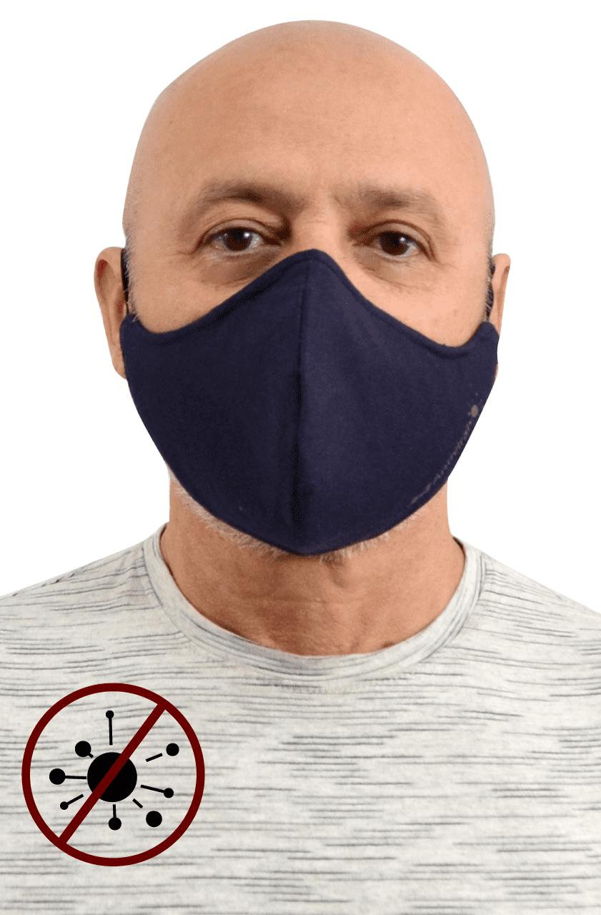 Máscara Antiviral Na Cor Marinho Masculino