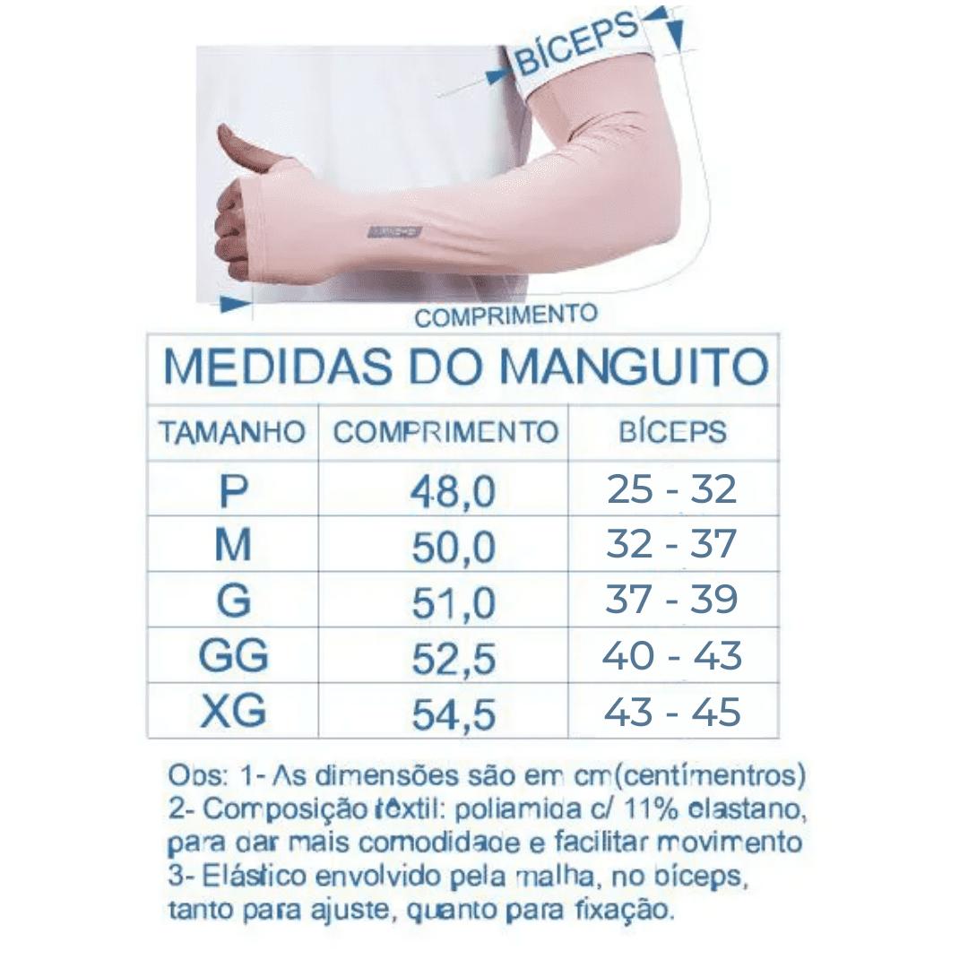Par de Manguito Liso Proteção para Braços UV 50+ com Punho - Nude