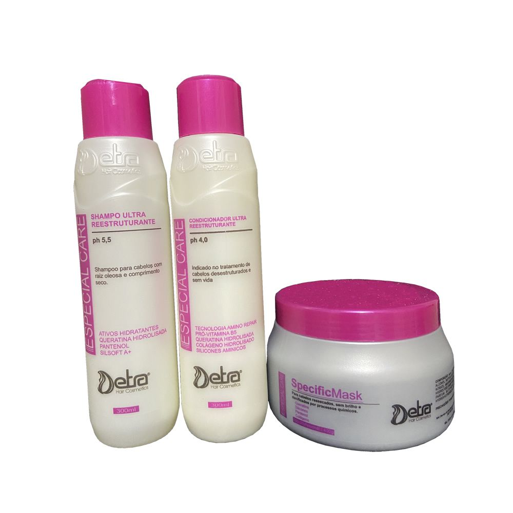 Detra Hair Cosmeticos kit Capilar Especial Care