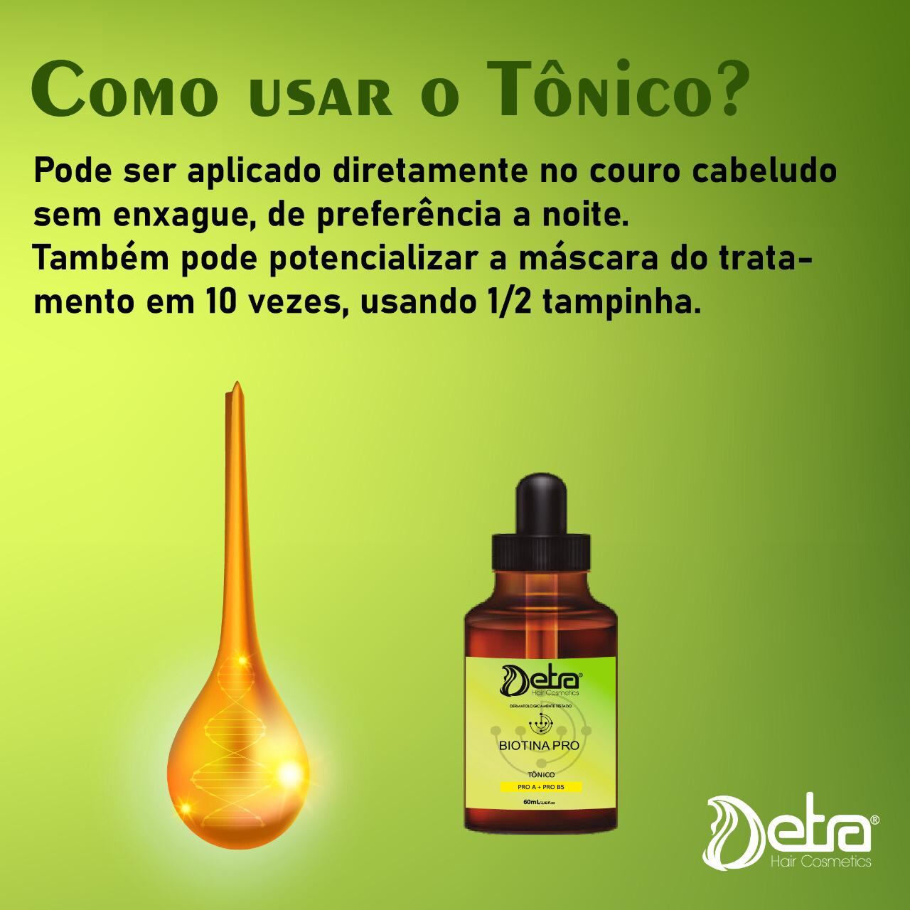 Detra Hair Cosmeticos kit Biotina Pro