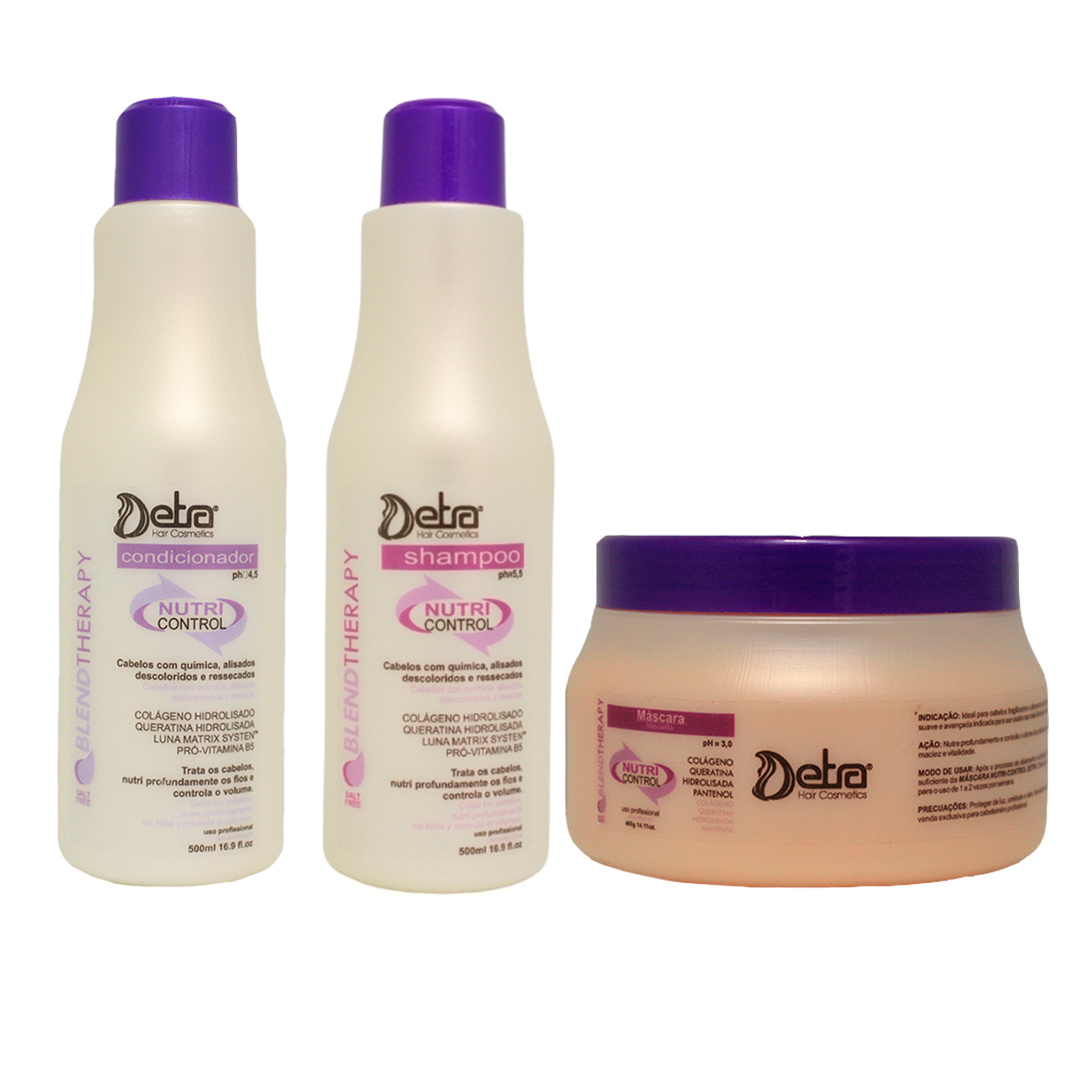 Detra Hair Cosmeticos Kit Capilar  Nutri Control