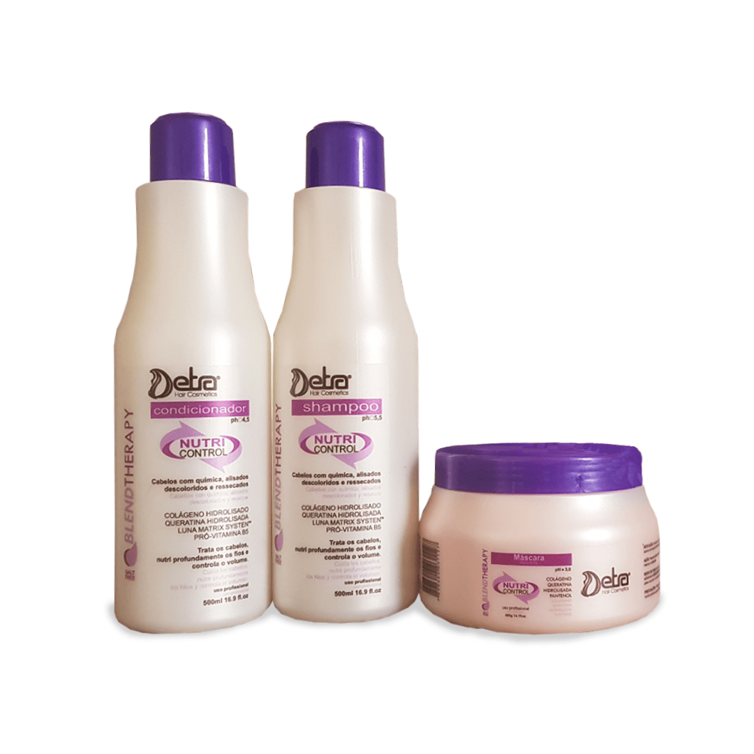 Detra Hair Cosmeticos Kit Linha Cliente Nutri Control 500ml