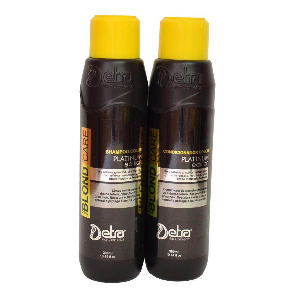 Detra Hair Cosmeticos kit linha manutenção Color Platinum Edition