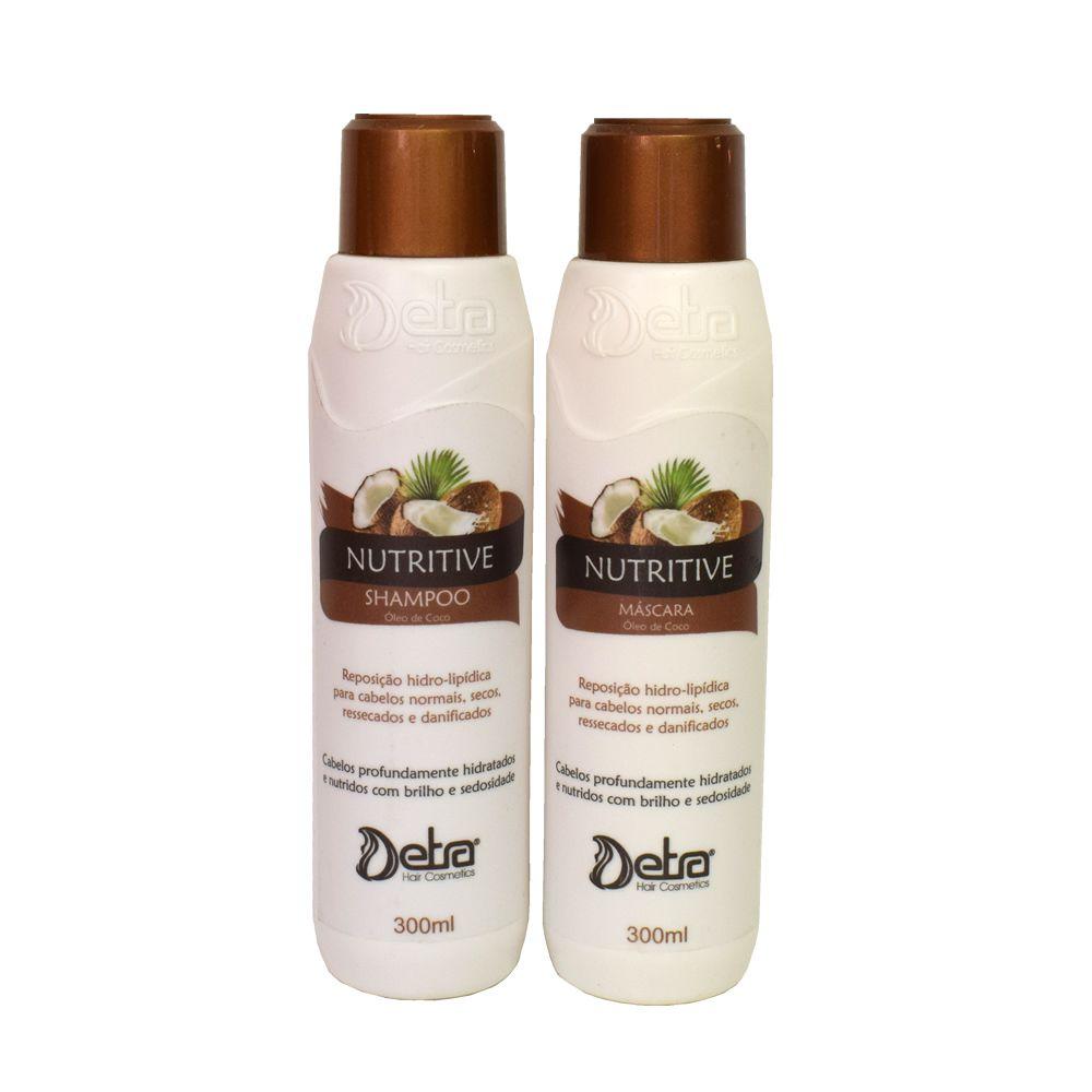 Detra Hair Cosmeticos kit  linha  manutenção nutritive coco 300ml