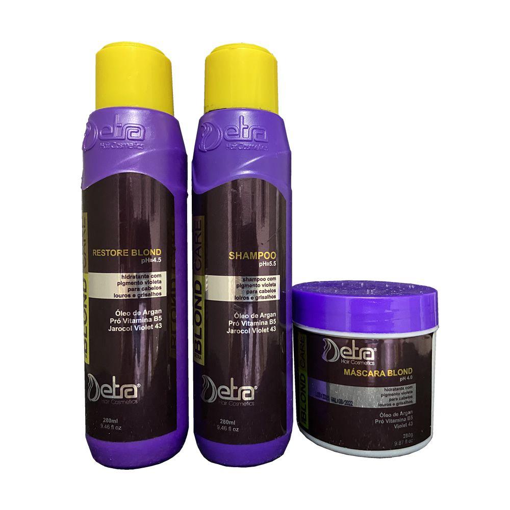 Detra Hair Cosmeticos kit Capilar Matizador  Blond Care