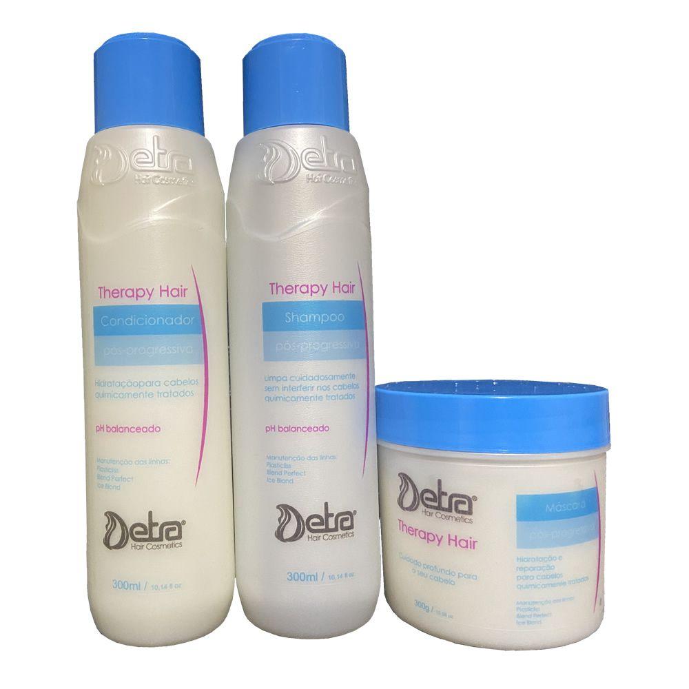 Detra Hair cosmeticos Linha Therapy Hair kit  Shampoo Condicionador e Mascara