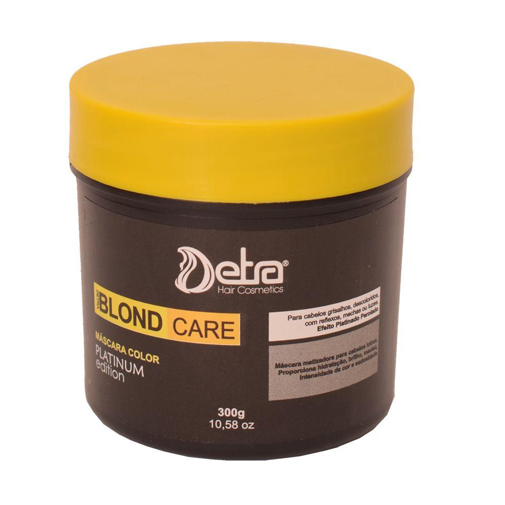 Detra Hair Cosmeticos Mascara Capilar  Matizadora Blond Care Platinum 300g