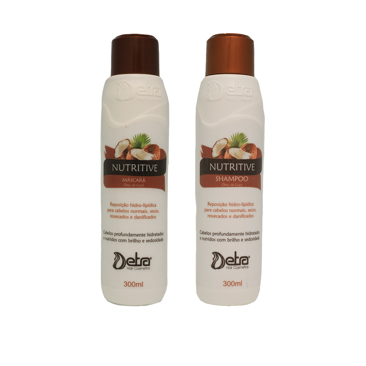 Detra Hair Cosmeticos Shampoo e Mascara Capilar  Nutritive Coco Kit