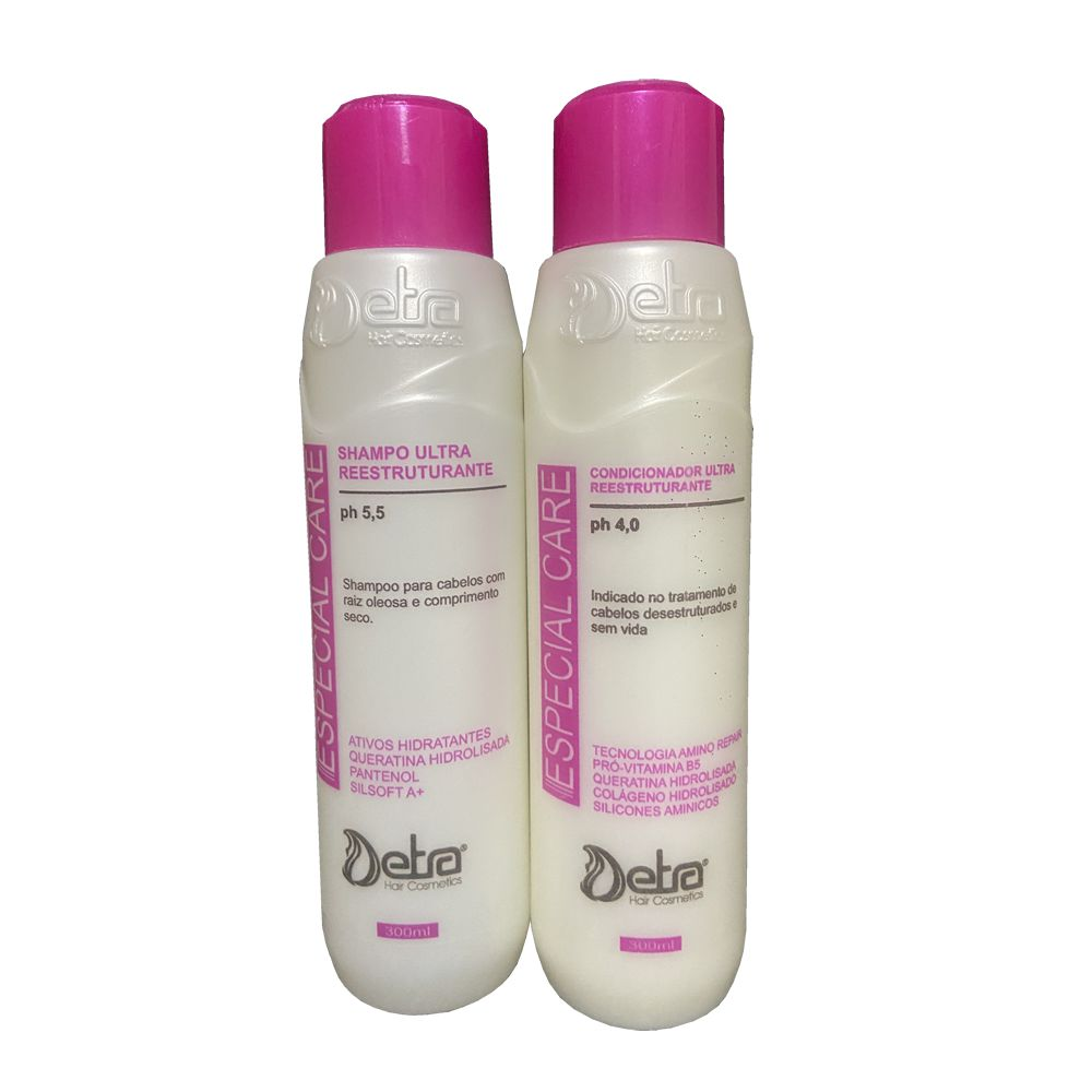 Detra Hair Especial Care Kit Shampoo e Condicionador