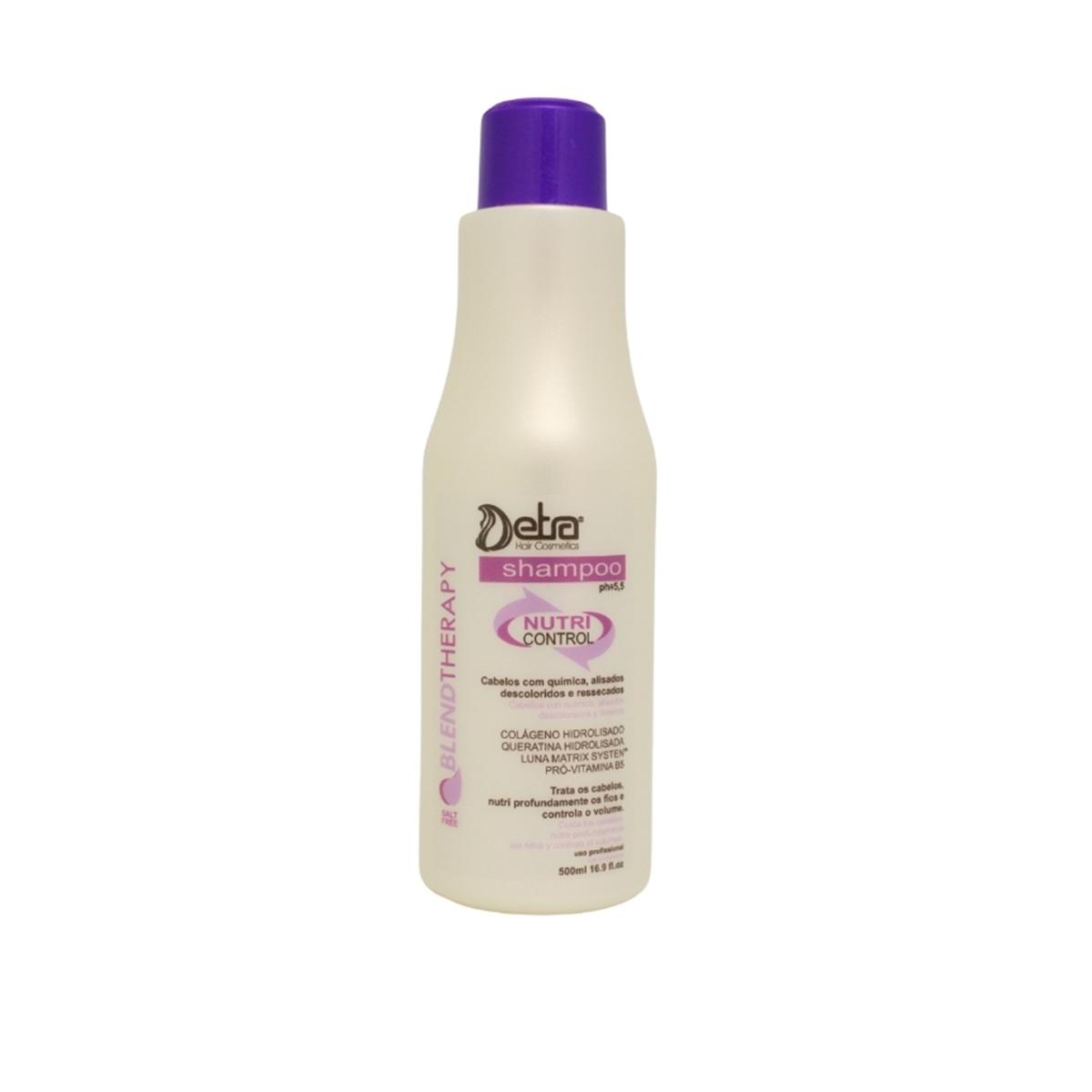 Detra Hair Shampoo para Cabelos Com Química  Nutri Control 500ml