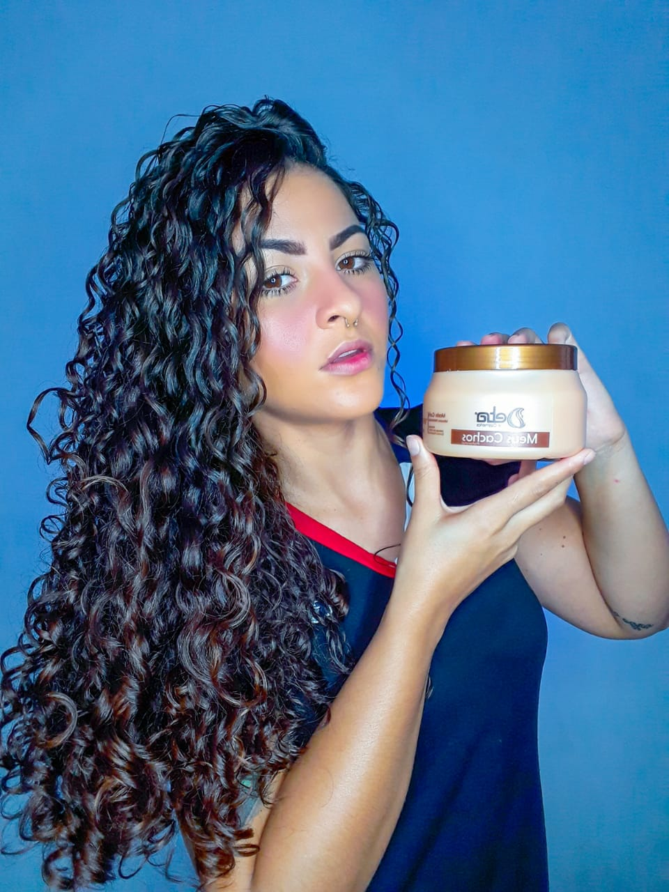 Hidratação Para Cabelos Cacheados Meus Cachos Detra Hair Cosmeticos 500gr