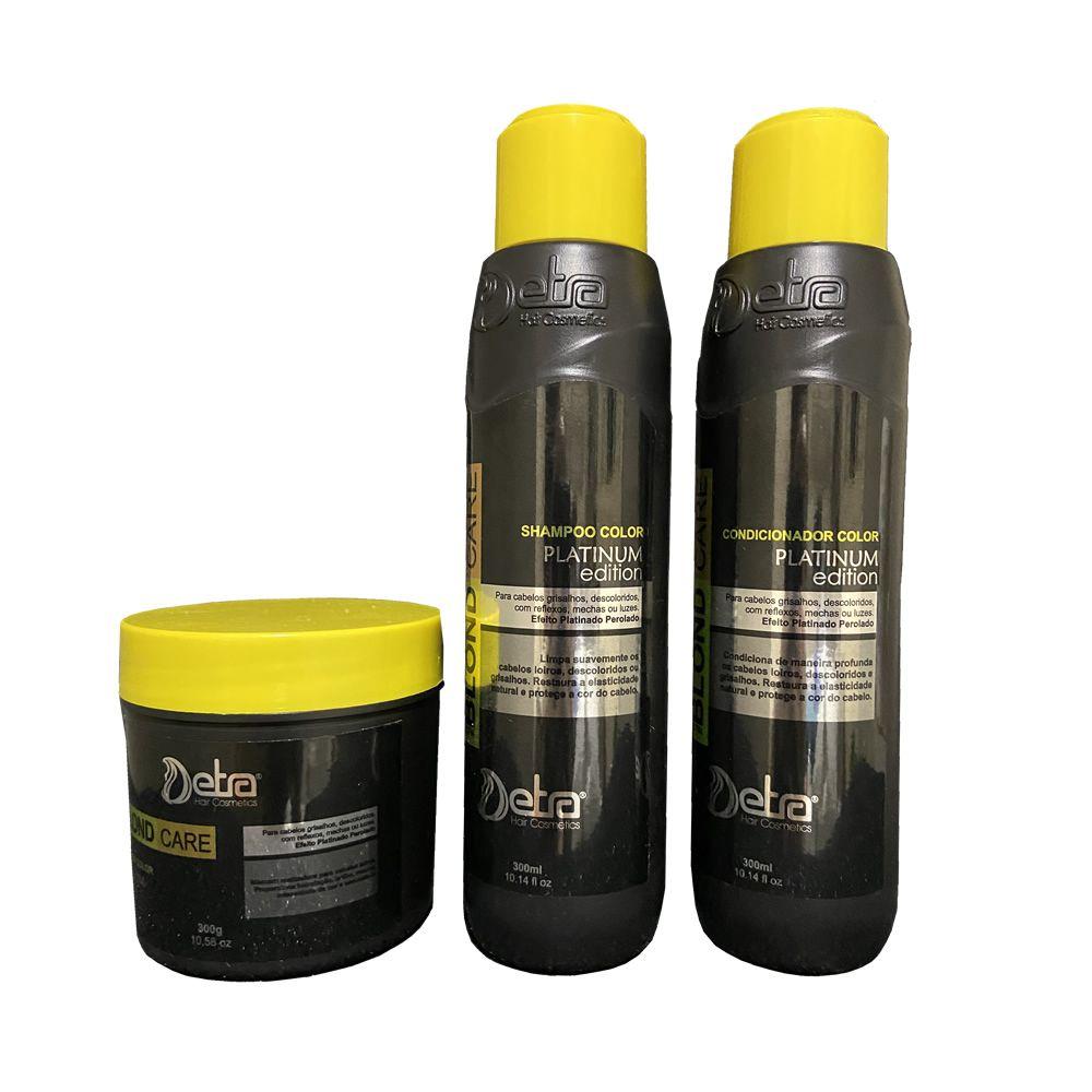 Kit Matizador Capilar Para Loiras  Platinum Detra Hair