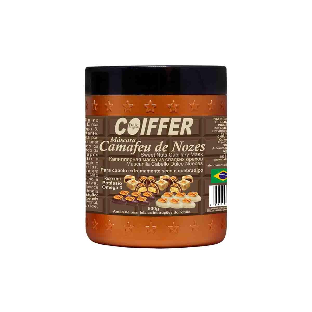 Máscara  Capilar Camafeu de Nozes Coiffer 500g