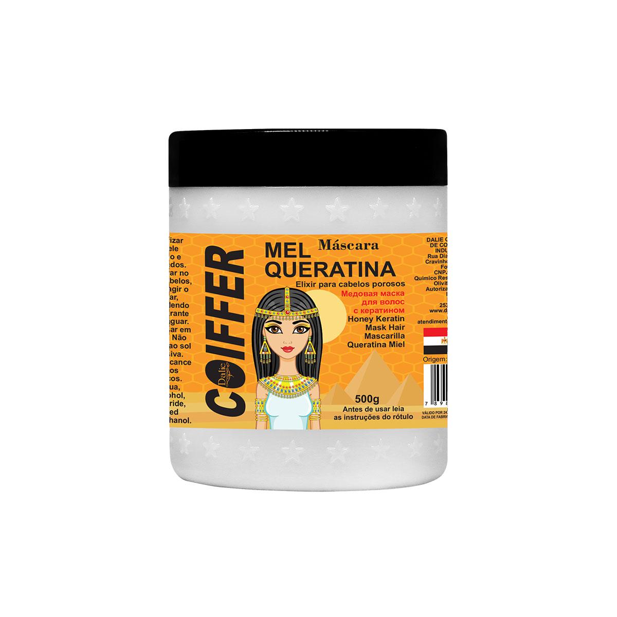 Máscara Capilar Mel e Queratina  Coiffer 500g